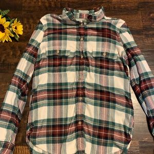American Eagle Cream/Green/Red Flannel